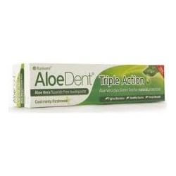 PASTA DENTAL - DENTÍFRICO ALOEDENT TRIPLE ACTION MADAL BAL - EVICRO 100 ml.