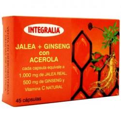 JALEA REAL + GINSENG + ACEROLA. INTEGRALIA. 45 cápsulas.