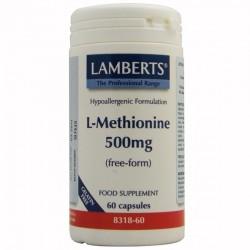 L-METIONINA 500 MG. LAMBERTS. 60 cápsulas.