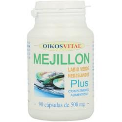 MEJILLON LABIO VERDE NEOZELANDES PLUS OIKOS VITAL 90 cápsulas de 500 mg.