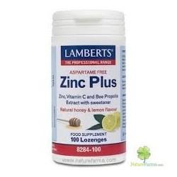 ZINC PLUS LAMBERTS 100 pastilles mastegables.