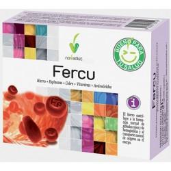 Fercu Hierro + Espinacas + Cobre + Vitaminas + Aminoácidos Novadiet 60 cápsulas