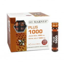 PLUS 1000 JALEA REAL MARNYS 20 viales de 10 ml.