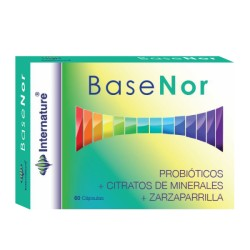 BASENOR INTERNATURE PROBIÓTICOS + CITRATOS DE MINERALES + ZARZAPARRILLA 60 cápsulas