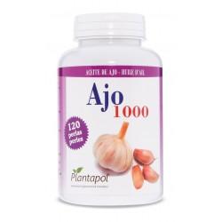 AJO 1000 ACEITE DE AJO PLANTAPOL 120 perlas de 1400 mg.