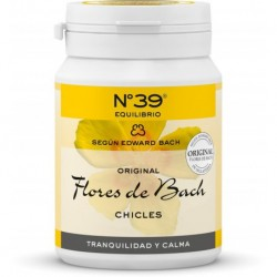 CHICLES DE FLORES DE BACH - EQUILIBRIO - Nº 39 - 60 gramos